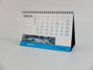 Calendario sobremesa cabaña con wiro