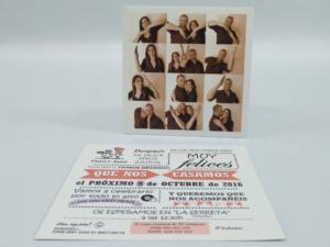 Conjunto tarjetón 15x15 cm 4+4 tintas y funda CD troquelada