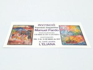 Invitación cartulina 10x21 cm 4 tintas