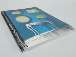 Libro A4 encuadernación espiral