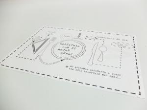 Mantel papel A3 1 tinta