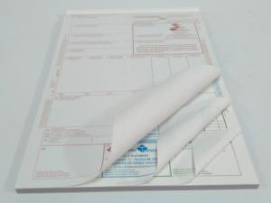 Talonario CMR A4 4 tintas cuadruplicado y numerado