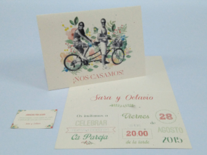 Tarjetón A4 4+4 tintas doblado díptico y tarjeta agradecimiento