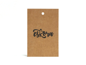 Etiqueta cartulina kraft 1 tinta